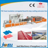 Buy cheap Jwell PVC Heat Insulation corrugated board & step-roofing extrusion line product