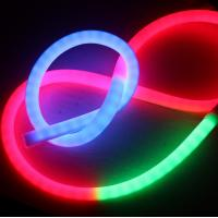 China 360 degree digital led neon flex silicone pixel rgb flexible led neon tube 24v addressable dmx controller on sale