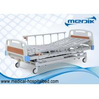 Buy cheap Adjustable Manual Hospital Bed With 3 Crank , Semi Fowler ICU Sickbed product
