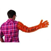Buy cheap LDPE / HDPE / Plastic Disposable Veterinary Gloves With Long Arm To Shoulder product