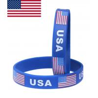 Buy cheap Promotional cheap custom silicone wristband ,cheap custom silicone bracelets,country flag bracelet product