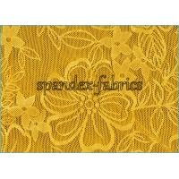 Buy cheap Yellow Stretch Lace Fabric product