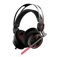 Buy cheap USB 7.1 Surround Sound Virtual Reality Headset , LED Light Around Ear Headphones For PC product