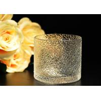 Buy cheap Leaf Pattern decorating clear glass candle holders for wedding , 18oz product