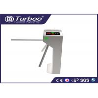 Buy cheap RFID Vertical Tripod Access Control Turnstile Gate Intelligent 3 Arm With Sensor product