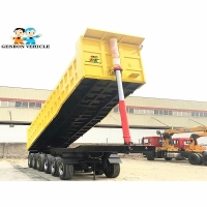 China Tarpaulin  End Dump Grain Trailer on sale