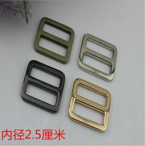Buy cheap Custom zinc alloy 25 mm nickel color metal adjustable strap slide buckle for backpack product