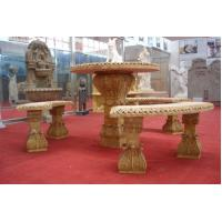 Buy cheap garden furniture stone table and chair product