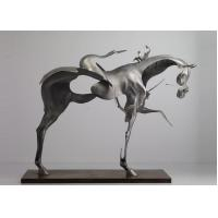 Buy cheap 170cm Life Size Abstract Stainless Steel Horse Sculpture Brushed Finishing product