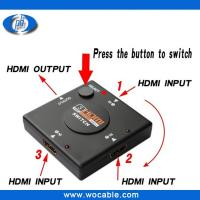 Buy cheap New 1.4version 3 Ports 3X1 HDMI Switch 3 in 1 out hdmi switcher product