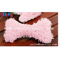 Buy cheap 100%Polyester Material Soft Plush Pink Bone Toy With Squeaker product