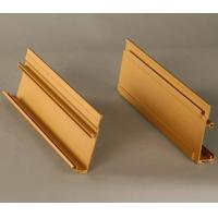 Quality Wood Finished Curtain Wall Aluminium Profiles For Industrial / Decoration for sale