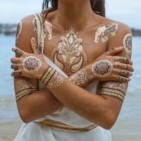 Gold and Silver Temporary Tattoos, Gold and Silver Temporary Tattoos ...