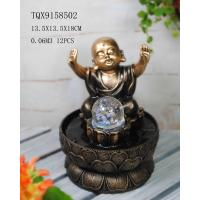 Buy cheap Little Monk Resin Water Pump Fountain With Revolving Ball 13.5 X 13.5 X 18 Cm product