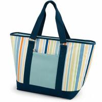 Buy cheap Multifunctional Canvas Cooler Tote Bag Light Blue Convenient Outside Pocket product