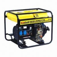 Buy cheap Diesel Power Generator with 5kW/50Hz Maximum Output, 418cc Displacement and 14L Fuel Tank Capacity product