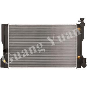 Buy cheap Toyota Corolla ZZE142 08 Aluminum Car Radiators AT OEM 16410-22180/16410-22181 0D481 product