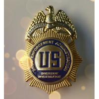 Buy cheap Pearlescent Shape Military Police Badge Soft Enamel Golden Plating OEM Service product
