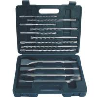 13-piece SDS-plus hammer drill set in Plastic box, single or cross tip