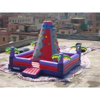 China Bright Coloured Rock Climbing Wall And Safe Pool In Inflatable Amusement Park on sale