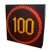 Buy cheap City Streets Digital Speed Limit Signs , Led Speed Signs Refresh Rate 120Hz product