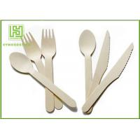 Buy cheap Food Grade Premium Birch Disposable Eco Friendly Wooden Cutlery Fork Knife Spoon product