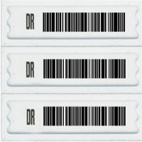 Secure Adhesive Soft Anti Shoplifting Label With DR Printing Customized Cloth