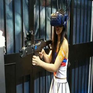 China Black Color Battlegrounds Free-Roam  Vr Arcade Machines / VR Shooting Simulator on sale