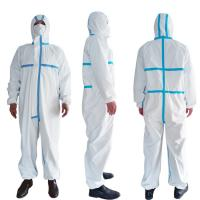 Buy cheap PPE Disposable Protective Suit , Chemical Protective Coveralls Clinical Mutiple Sizes product