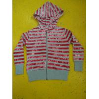 Buy cheap Tie Dyed Multi Strips Basic Hooded Zippered Sweatshirt Jackets Rib Cuff Bottom product