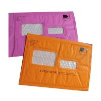 Buy cheap Pink Kraft paper  bubble mailers size #5 10.5x16 with window ideal for address label product