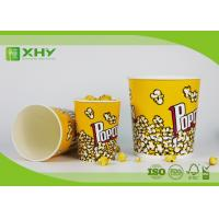 Buy cheap Food Grade Paper Popcorn Buckets With Paper Lid , Top180mm 85oz Paper Cups product