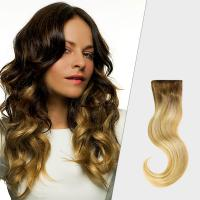Professional Black To Blonde Ombre Hair Extensions , No Tang No Mixture Ombre Weft Hair Extensions