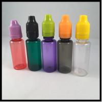 China 20ml PET E Cig Liquid Bottles With Childproof  Tamper Cap And Long Thin Tip Dropper Bottle on sale