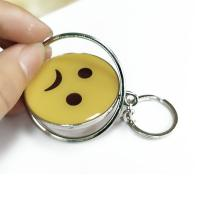 Buy cheap Smiling Face Custom Logo Keychains Yellow Circle With Eco-friendly Metal product