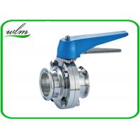 Buy cheap Multiple Position Sanitary Manual Butterfly Valves with Plastic Gripper Handle product