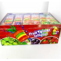 Buy cheap Colorful Multi Fruit Flavor Twist Lollipop with Fluorescent sticks sweeet and healthy product