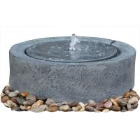 China Black Marble Cast Asian Buddha Water Fountain Outdoor In Chinese Stone Mill Shape on sale