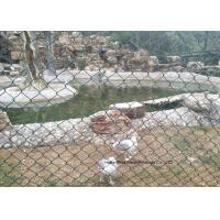 Buy cheap PVC Coated Wire Netting Fence / Green Wire Fencing Chain Link For Zoo Protection product