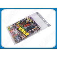 Buy cheap Custom Printed Poly Mailers Self-Seal Transparent Poly Envelopes For Brochures , Catalogue product