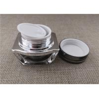 Buy cheap Square Shape PP PE Acrylic Jars For Cosmetics 15 / 30G 62 * 60 * 55MM product