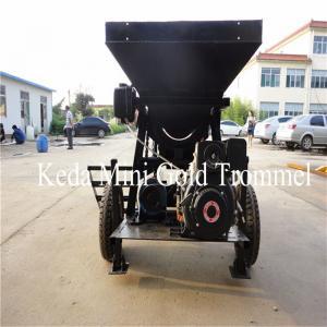 Buy cheap 10t/h 530*1800mm Mobile Trommel Gold Washing Plant feeder hopper product