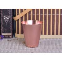 Buy cheap 95ml Rose Gold Taper Cone Shaped Aluminium Candle Vessel Metal Jars For Candle Making product