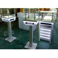 White Painting Color Lockable Glass Display Case For Jewelry Exhibition