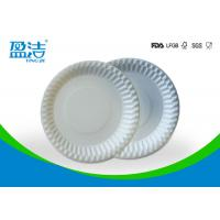 Buy cheap Food Contact Safety Bulk Disposable Plates , Biodegradable Paper Plates For Barbeque product