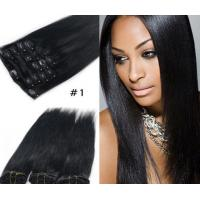 China Popular Durable Indian Human Hair Extensions , Clean / Smooth Virgin Remy Straight Hair on sale
