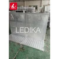 Buy cheap Aluminum Oval Tube Folding Stage Crowd Safety Barriers Closed Or With Door from wholesalers