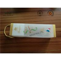 Buy cheap Frosted At Surface Cardboard Food Packaging Boxes With String , Wine PVC Gift Boxes product