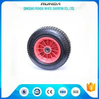 Buy cheap 4 Ply Rating Pneumatic Rubber Wheels 16inches Size Plastic Rim 170KG Loading product