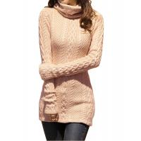 Buy cheap Slim Fit Turtleneck Fashion Pullover Sweaters Cable Knit Jumper Womens product